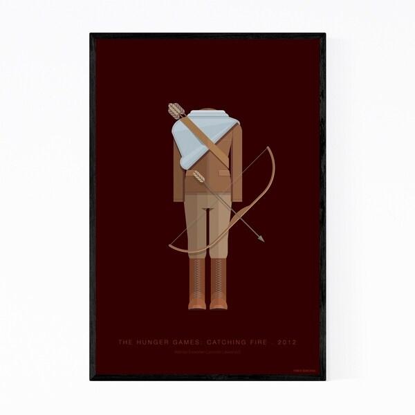 Noir Gallery The Hunger Games Illustration Framed Art Print