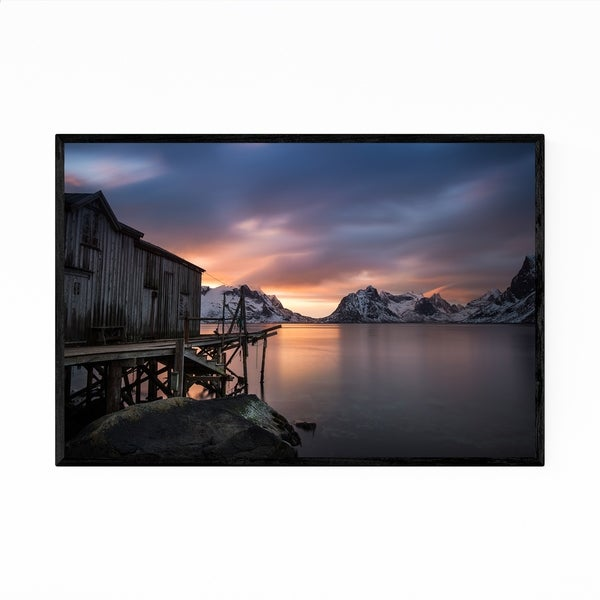 Noir Gallery Norway Nature Sunset Photo Framed Art Print