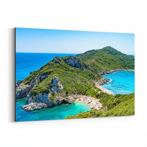 Noir Gallery Kerkyra Greece Beach Nature Photo Canvas Wall Art Print