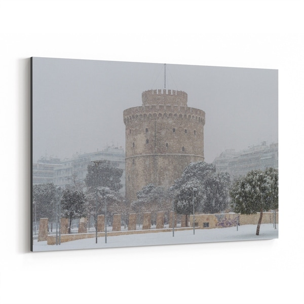 Noir Gallery Thessaloniki Greece Architecture Canvas Wall Art Print