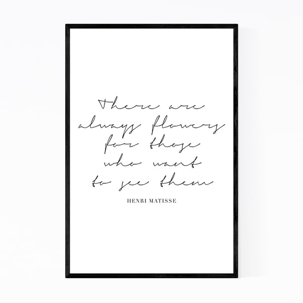 Noir Gallery Henri Matisse Quote Typography Framed Art Print