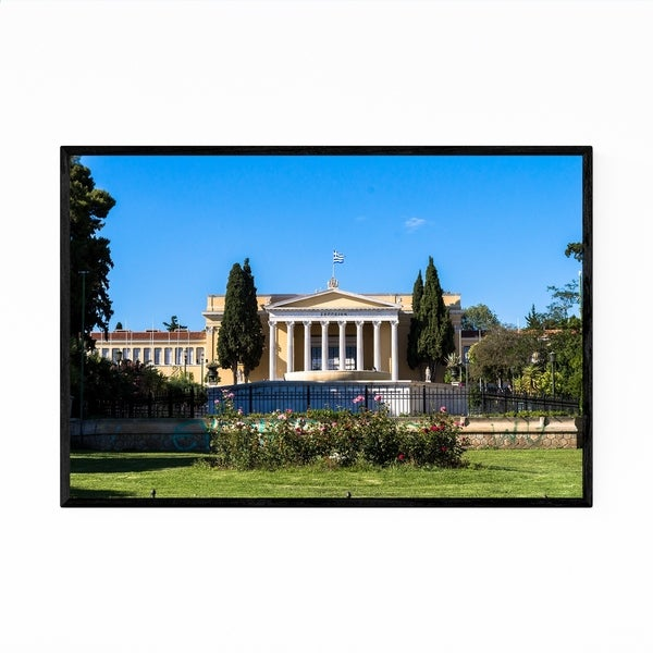 Noir Gallery Athens Greece Architecture Framed Art Print