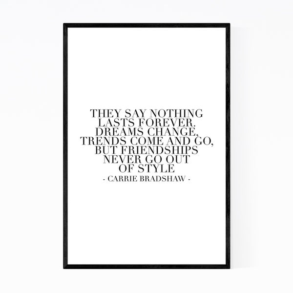 Noir Gallery Sex and the City Quote Typography Framed Art Print
