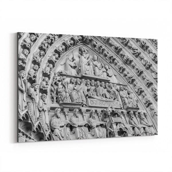 Noir Gallery Paris France Architecture Notre Dame Canvas Wall Art Print