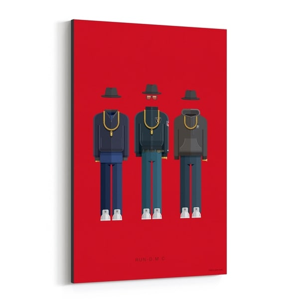 Noir Gallery Run-D.M.C. Music Illustration Canvas Wall Art Print