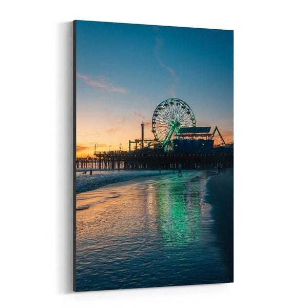 Noir Gallery Santa Monica California Beach Photo Canvas Wall Art Print