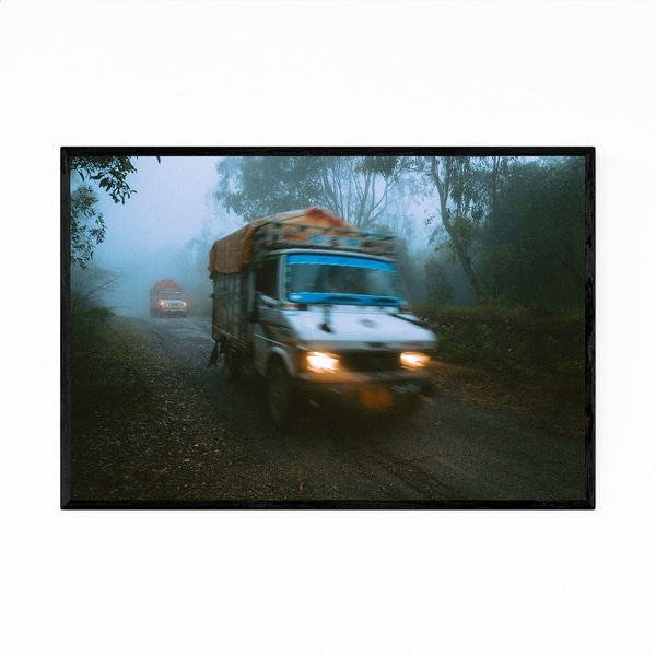 Noir Gallery Udaipur India Fog Photo Framed Art Print