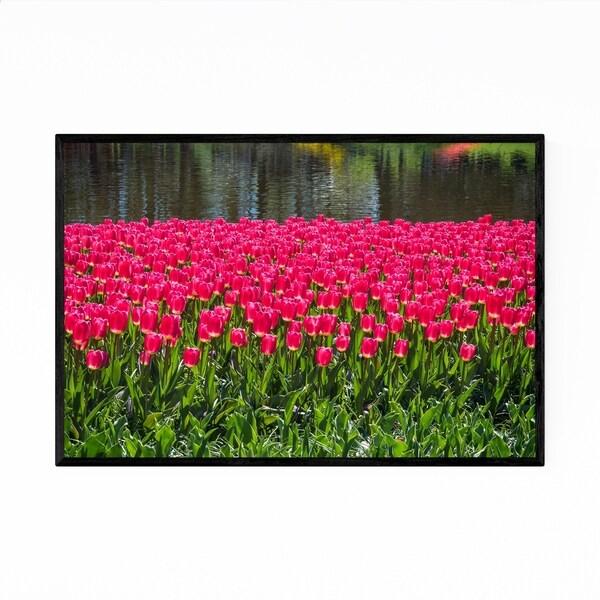 Noir Gallery Keukenhof Netherlands Tulips Photo Framed Art Print