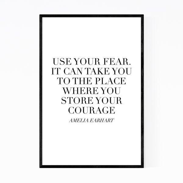 Noir Gallery Amelia Earhart Quote Typography Framed Art Print