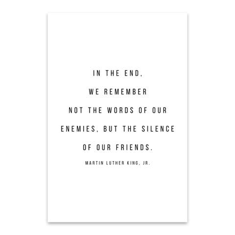 Noir Gallery Martin Luther King Quote Typography Metal Wall Art Print