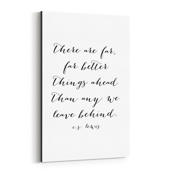 Noir Gallery C.S. Lewis Quote Typography Canvas Wall Art Print