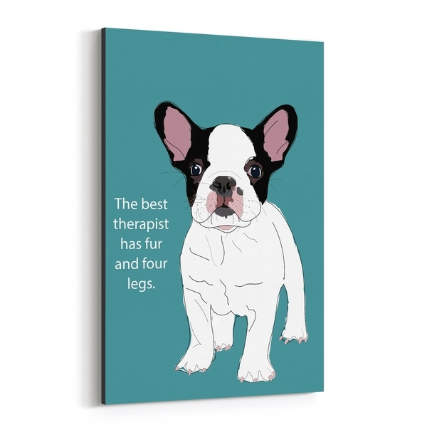 Noir Gallery Dog Quote Illustration Canvas Wall Art Print