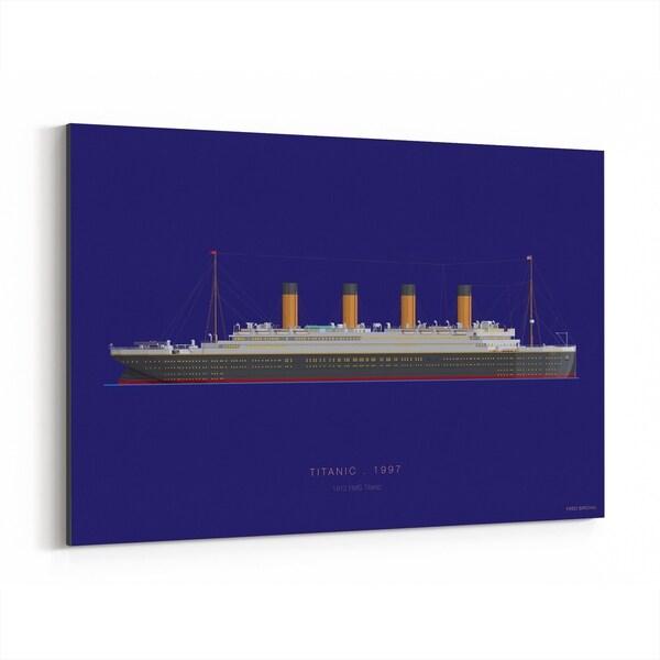 Noir Gallery Titanic Movie TV Illustration Canvas Wall Art Print