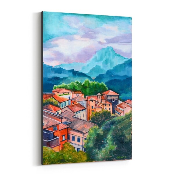 Noir Gallery Italy Mountains Rural Nature Painting Canvas Wall Art Print