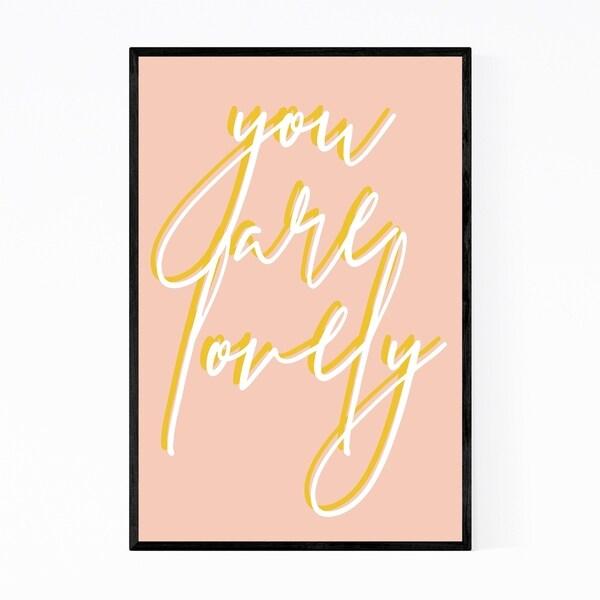 Noir Gallery Motivational Minimal Typography Framed Art Print