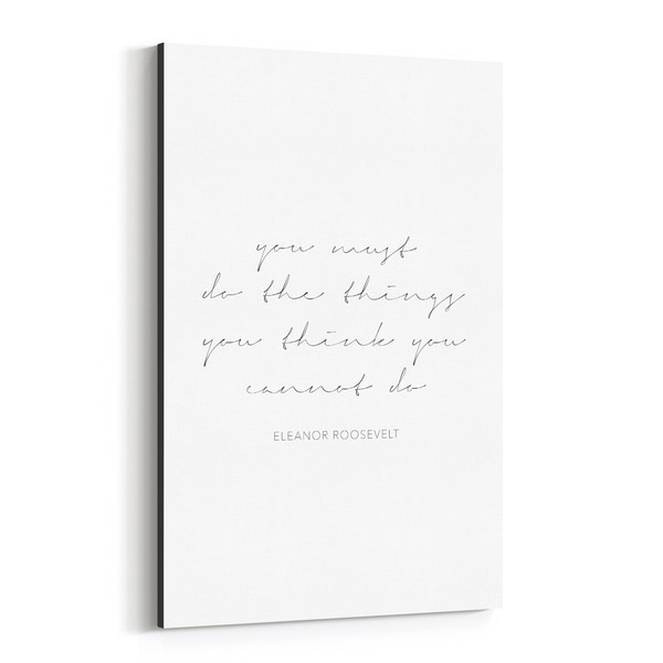 Noir Gallery Eleanor Roosevelt Quote Typography Canvas Wall Art Print
