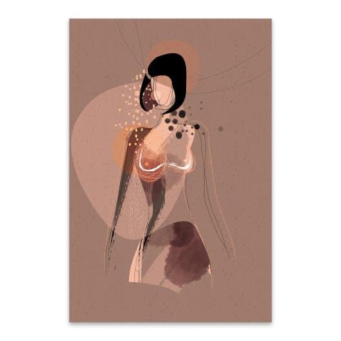 Noir Gallery Abstract Feminine Nude Figurative Metal Wall Art Print
