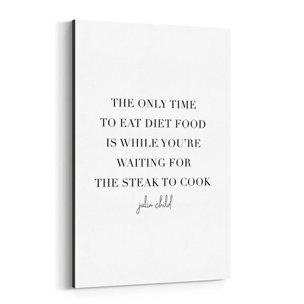 Noir Gallery Julia Child Quote Typography Canvas Wall Art Print
