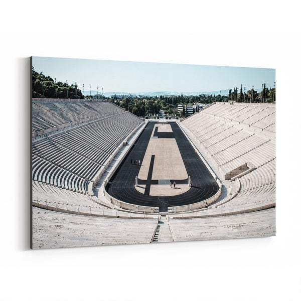 Noir Gallery Athens Greece Stadium Urban Photo Canvas Wall Art Print