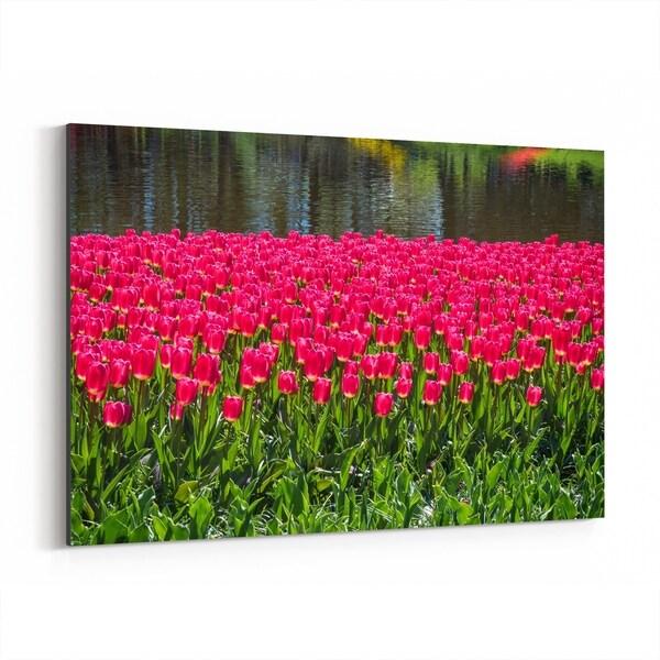Noir Gallery Keukenhof Netherlands Tulips Photo Canvas Wall Art Print