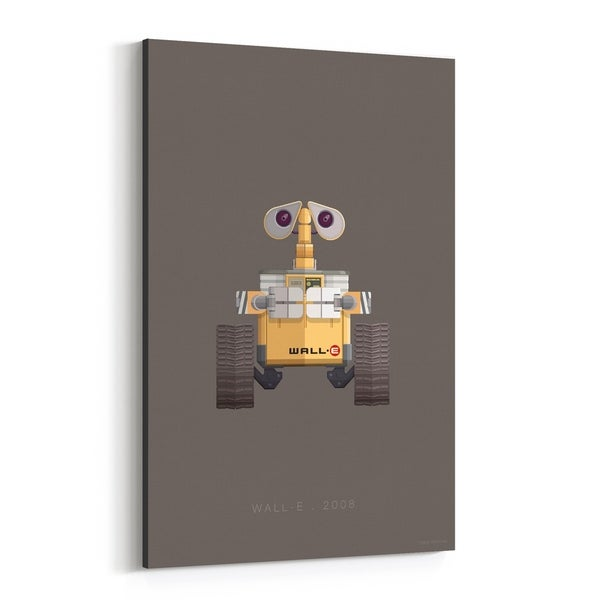 Noir Gallery Wall-E Robots Movie TV Illustration Canvas Wall Art Print