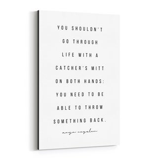 Noir Gallery Maya Angelou Quote Typography Canvas Wall Art Print