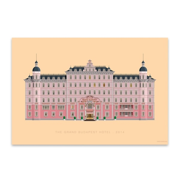 Noir Gallery The Grand Budapest Hotel Illustration Metal Wall Art Print. Opens flyout.