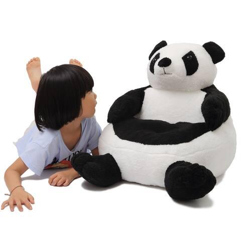 WOWMAX Kids Panda Sofa Chair Stuffed Animal Plush Toy Floor Throw Seat