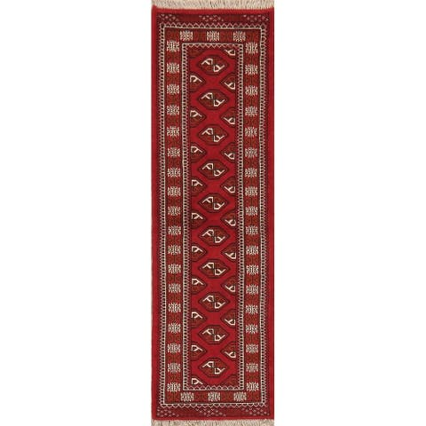"""Bokhara Hand Knotted Oriental Traditional Wool Pakistani Rug - 6' 5"""" x 2' 0"""" Runner"""