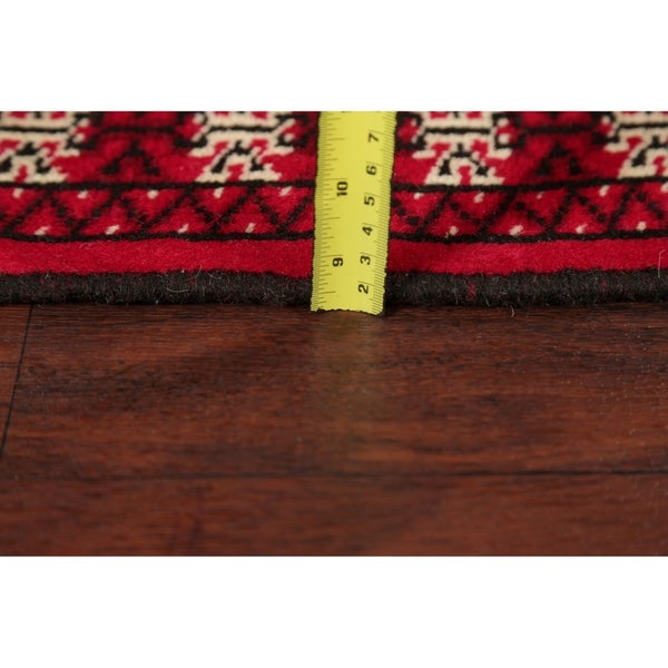 """Bokhara Hand Knotted Traditional Oriental Wool Pakistani Rug - 6' 3"""" x 2' 0"""" Runner"""