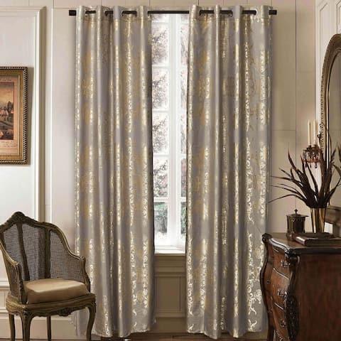 Window Semi-Blackout Curtain / Drape Panel, Primavera