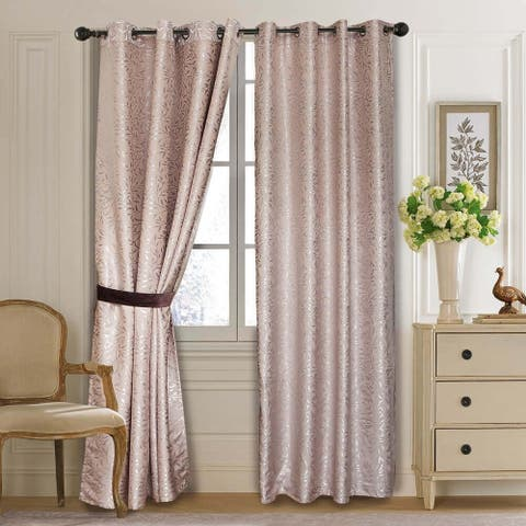 Window Semi-Blackout Curtain / Drape Panel, Olympia