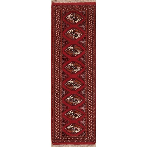 """Bokhara Hand Knotted Traditional Oriental Wool Pakistani Rug - 6' 4"""" x 2' 0"""" Runner"""