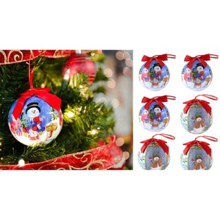 Link to Half dozen Shatterproof  Santa Clause Christmas Ball Ornament Similar Items in Christmas Decorations