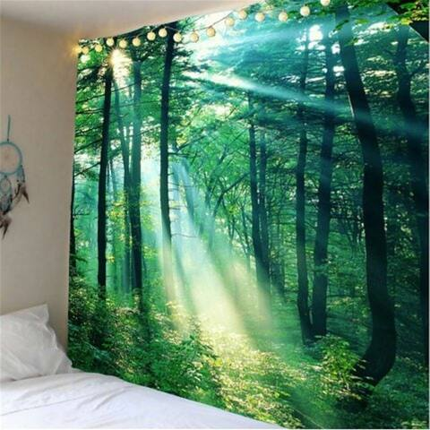 """Forest Sunshine Tapestry Room Wall Hanging 59.1"""" x 51.2"""""""
