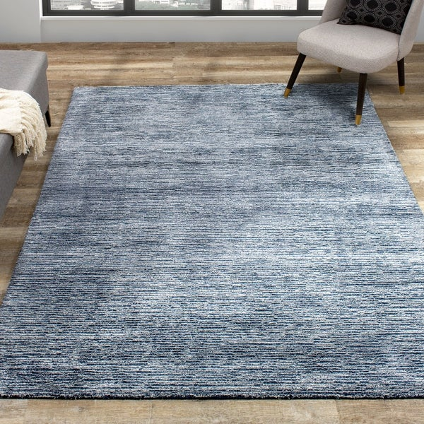 Annette Blue Grey Handtufted Rug