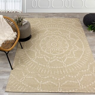Vaughn Beige Cream Intricate Suns Indoor/Outdoor Rug