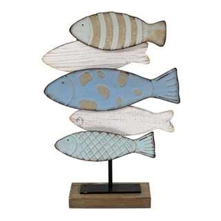 Link to Stratton Home Decor School of Fish Table Top Decor Similar Items in Canvas Art