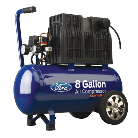Ford Silent Series 8 Gallon Horizontal Tank Air Compressor
