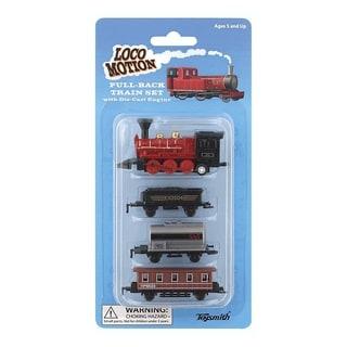 Toysmith Loco Motion Mini Pull-Back Train Set Assorted