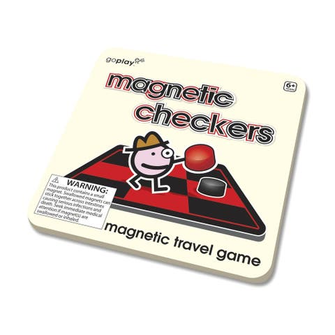 Toysmith Magnetic Travel Checkers Game