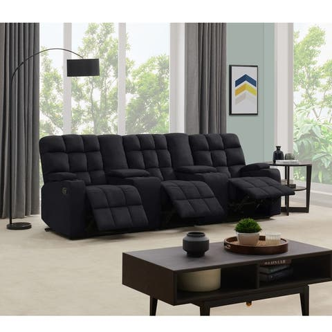 Copper Grove Bielefeld 3 Seat Recliner Sofa with Power Storage Consoles