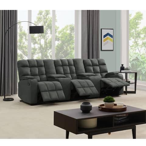 Copper Grove Bielefeld 3 Seat Recliner Sofa with Power Storage Consoles