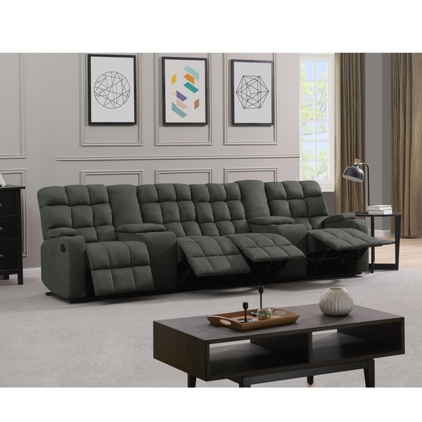 Copper Grove Bielefeld 4 Seat Recliner Sofa with Power Storage Consoles. Opens flyout.