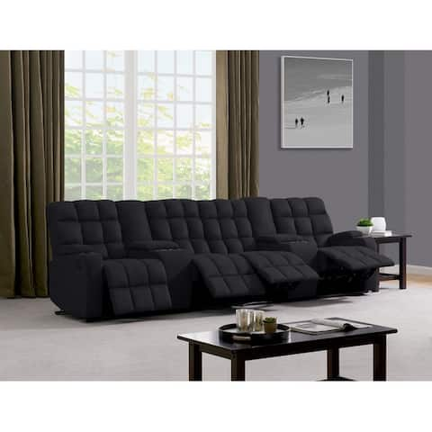 Copper Grove Bielefeld 4 Seat Recliner Sofa with Power Storage Consoles