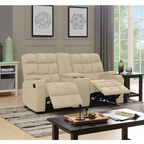 Copper Grove Bielefeld 2 Seat Recliner Sofa with Power Storage Console