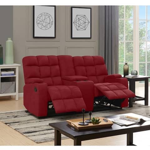Copper Grove Bielefeld 2 Seat Recliner Sofa with Power Storage Console