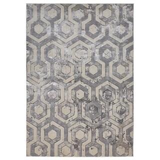 Grand Bazaar Orin Beige/Gray Geometric Abstract Contemporary Area Rug - 8' x 11'