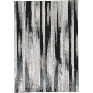 Strick & Bolton Mustonen Grey/ Black Abstract Area Rug - 7' x 10'