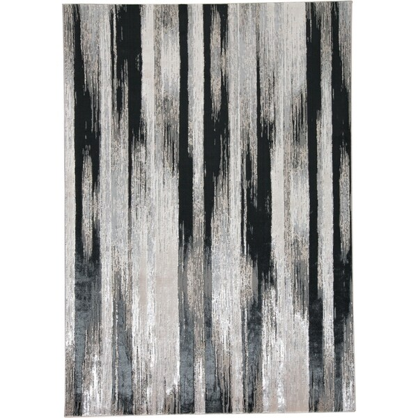 Strick & Bolton Mustonen Grey/ Black Abstract Area Rug - 7' x 10'